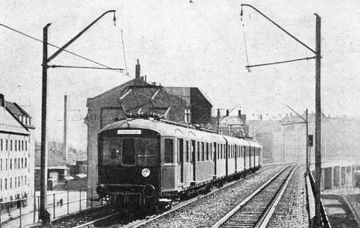An Electric Train Entering Norrebro, Denmark