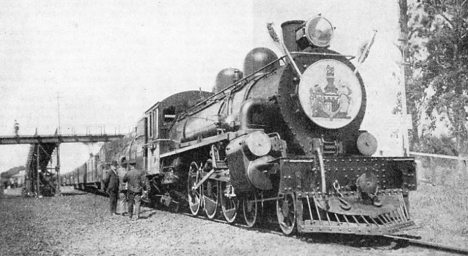 The Duke of Gloucester's train at Panmure, New Zealand