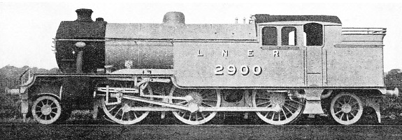A 2-6-2 LNER tank engine in 1930