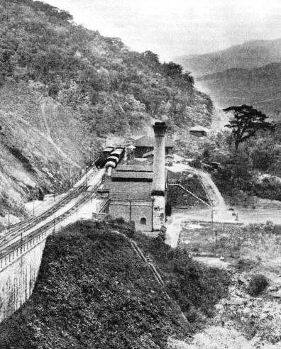 A POWER STATION at a bankhead on the inclines on the Sao Paulo Railway