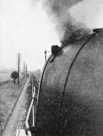 A striking picture taken from the cab of an engine travelling at speed