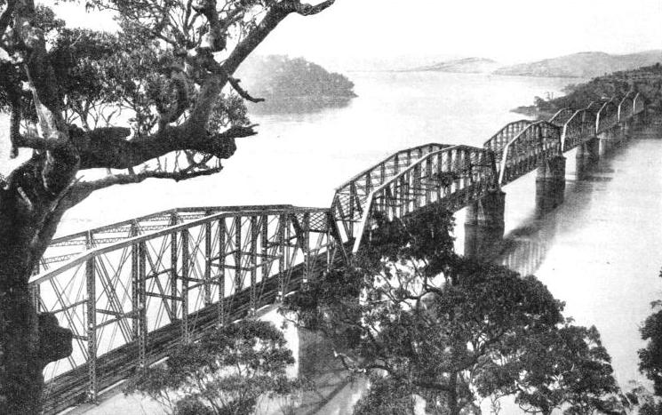 A FAMOUS AUSTRALIAN BRIDGE which spans the estuary or the Hawkesbury River
