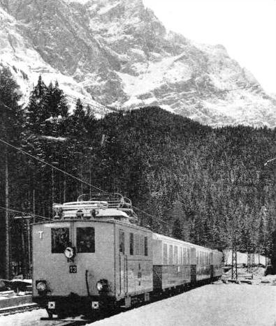 THE BAVARIAN ZUGSPITZE RAILWAY