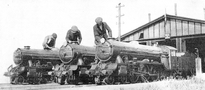 Preparing locomotives for the day's work on the Romney, Hythe and Dymchurch Railway in Kent