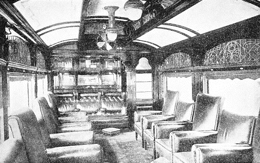 THE INTERIOR of one of the coaches on a train used by the Duke of Gloucester during his Australasian tour in 1934-5