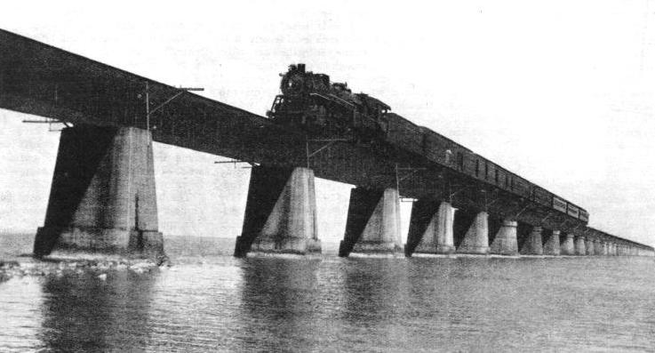 The express crossing the water on the famous Knight's Key Bridge