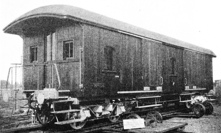PASSENGER BAGGAGE VAN built in 1907 at the shops of the Central Uruguay Railway