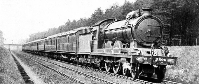 AN ATLANTIC 4-4-2 EXPRESS ENGINE, formerly of the North Eastern Railway