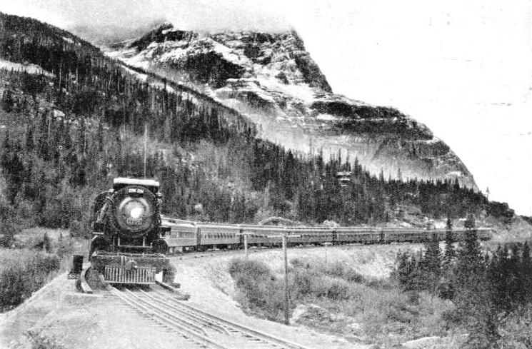 "The ""Trans-Canada Limited"" at Field, British Columbia"