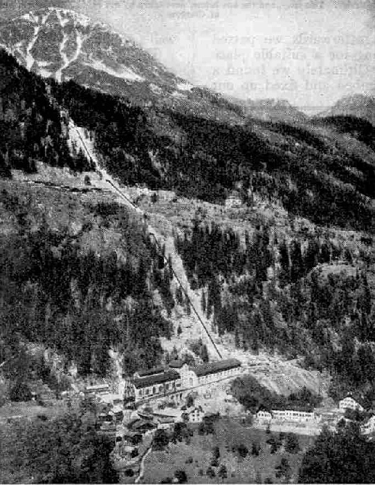 The Power-plant of the Swiss Federal Railways at Barberine