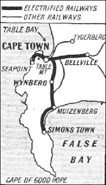 THE ROUTES of the electrified lines around Cape Town