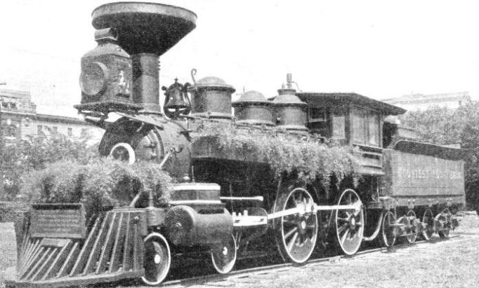 Pensioned off - this early Canadian Pacific engine