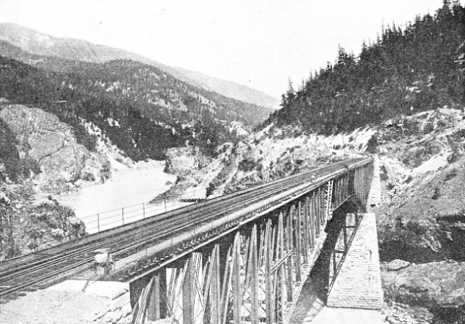 This fine steel bridge carries the line across British Columbia's biggest river