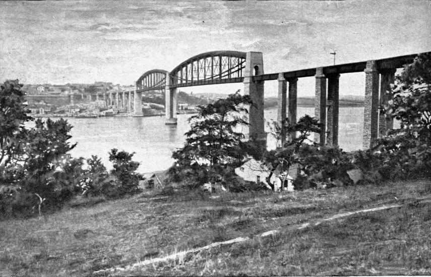 THE ROYAL ALBERT BRIDGE AT SALTASH
