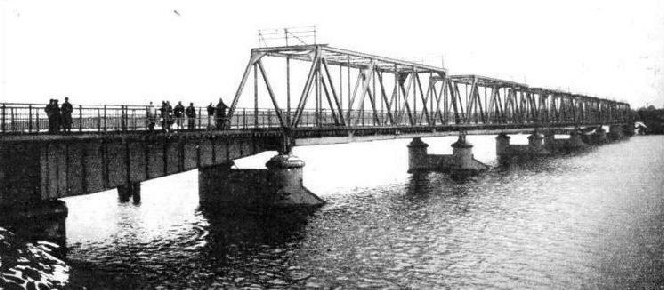 Rebuilt bridge that carries the main line between Riga and Ventspils