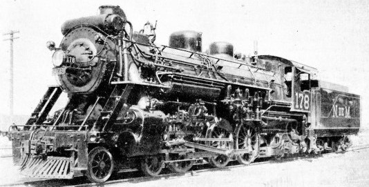 LOCOMOTIVE No. 178, one of the 4-6-2 engines owned by the National Railways of Mexico