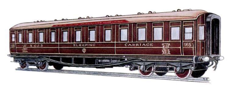EAST COAST JOINT STOCK - FIRST CLASS SLEEPING CARRIAGE No. 165