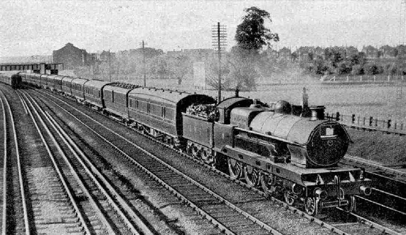 The up Irish Mail passing Kenton