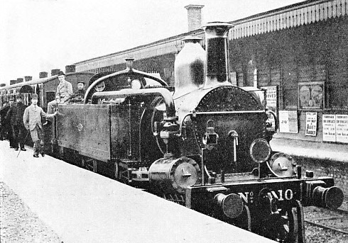 one of the early trains at West Brompton Station