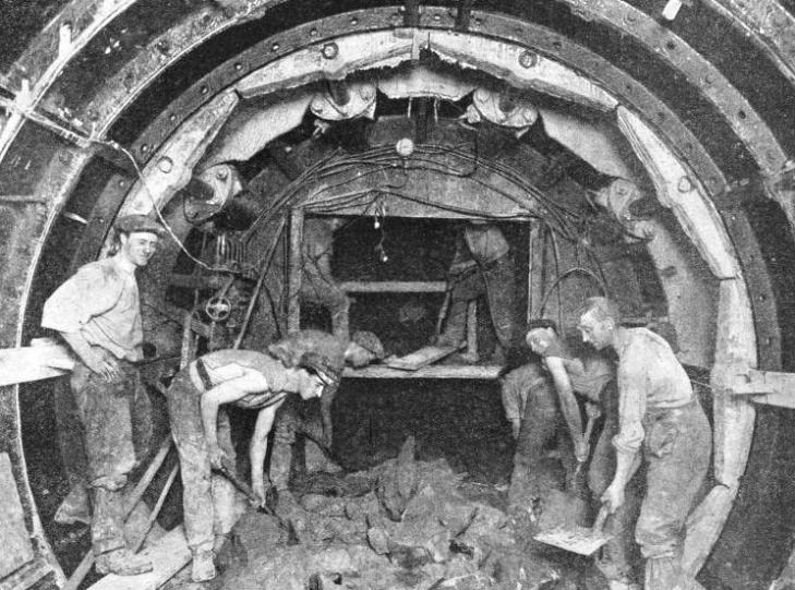 A GREATHEAD SHIELD at work in the construction of a tunnel