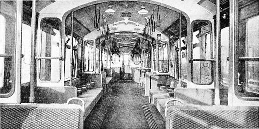 INTERIOR OF THE LATEST TUBE OF TUBE COACH