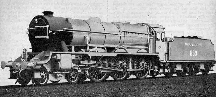 Southern Railway 4-cylinder 4-6-0 locomotive No. 850, Lord Nelson