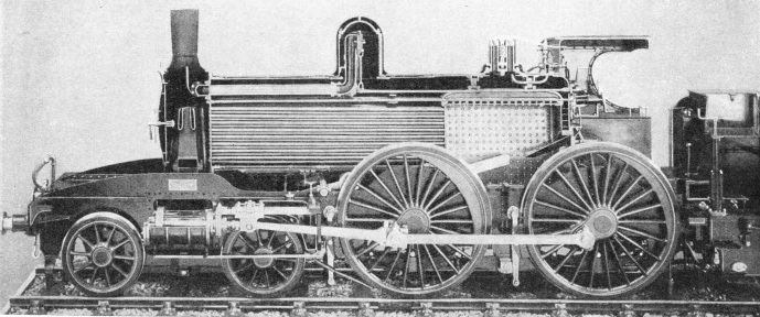 A sectional view of W Adams' LSWR express locomotive