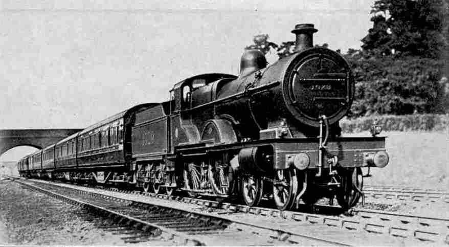 Up Manchester-London Express hauled by LMS 4-4-0 Compound