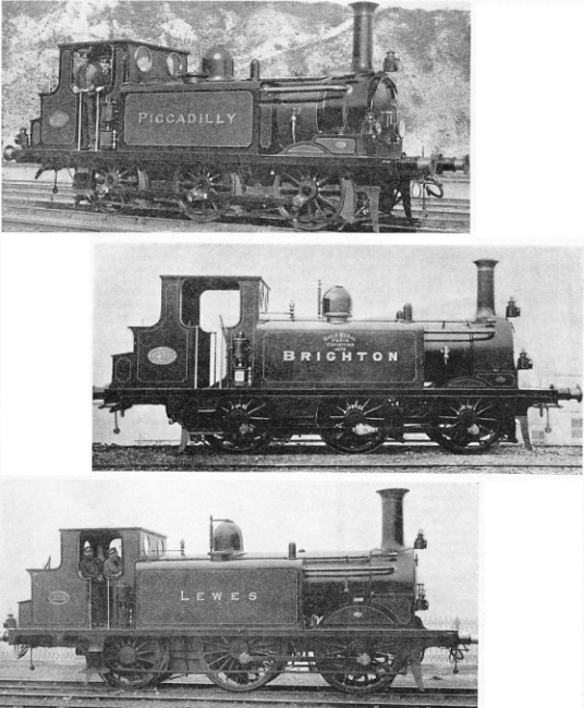 Three Brighton line tank engines