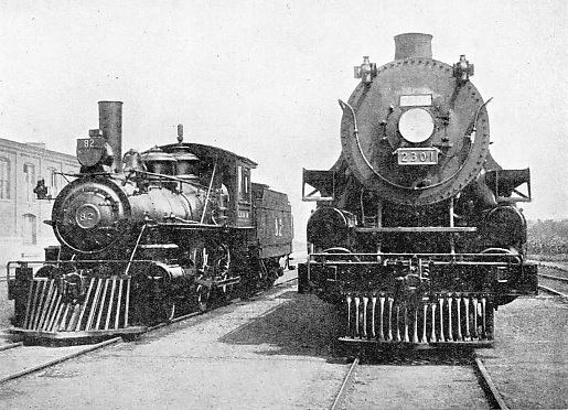 EARLY 4-4-0 AND MODERN 4-6-2 CANADIAN ENGINES