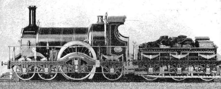 """EMPEROR"", a Great Western broad gauge locomotive built in 1880"