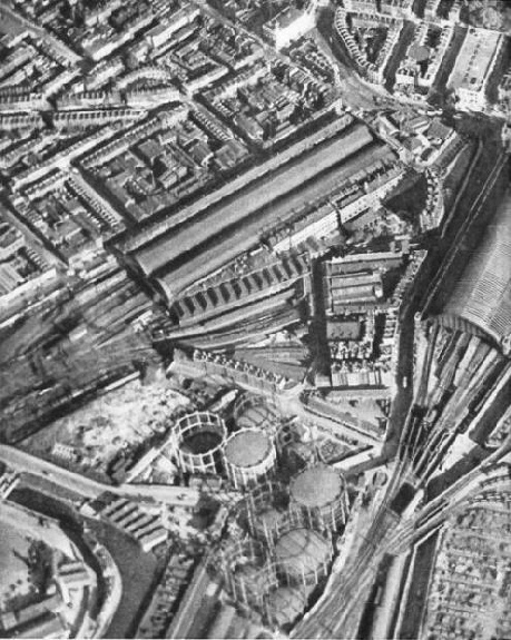 Kings Cross and St Pancras from the air