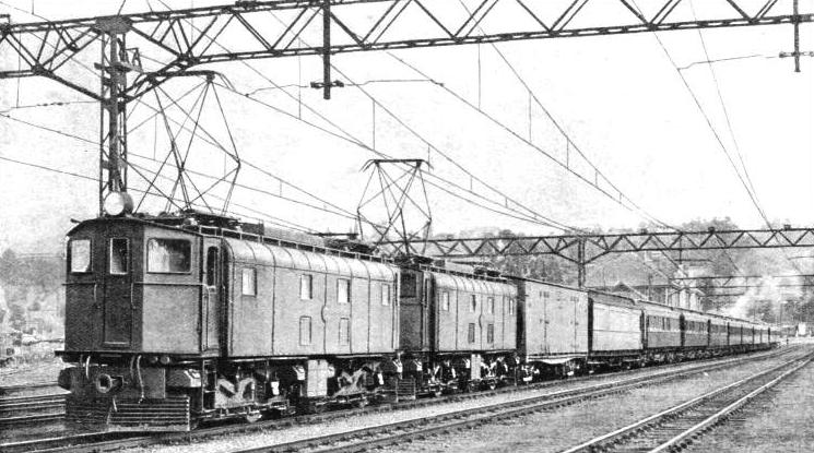 PASSENGER AND MAIL TRAIN on an electrified section of the railway in Natal