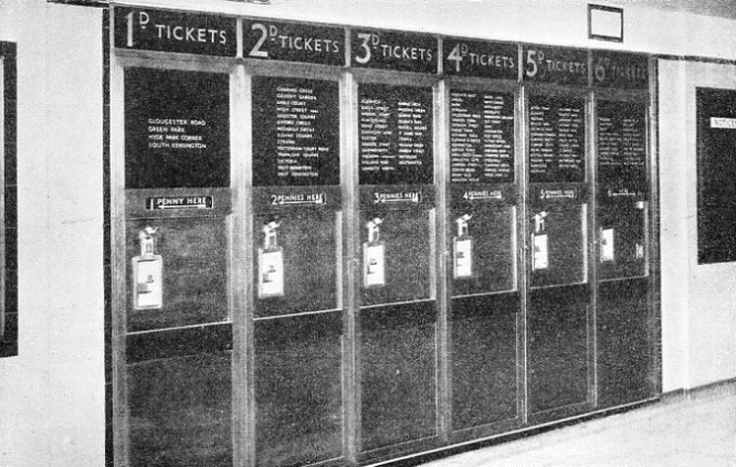 BUNCH HOPPER TICKET MACHINES, at Wood Green Station