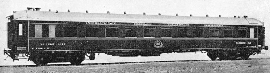 AN ALL-METAL MODERN COACH built for the Wagons-Lit company
