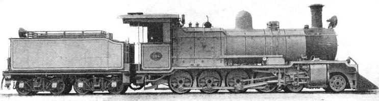 A 4-8-0 LOCOMOTIVE built for the Great Western of Brazil Railway