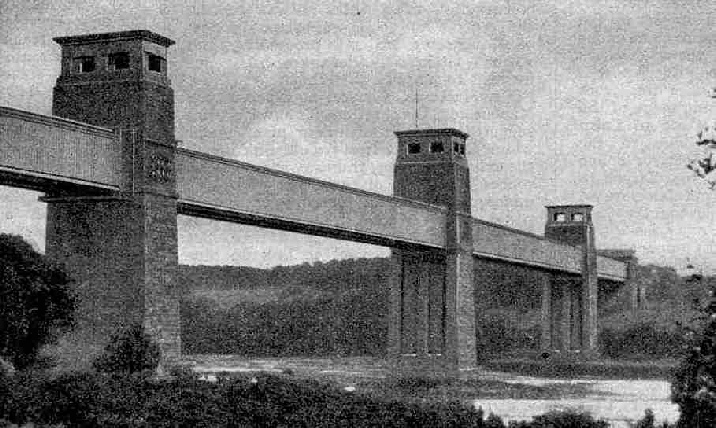 The famous Britannia Tubular Bridge, which plays an important part in the run of the Irish Mail.