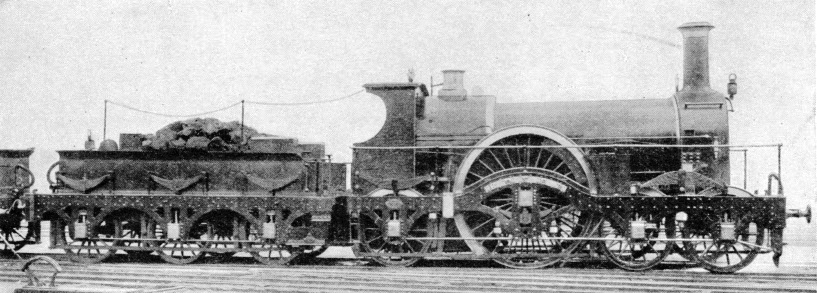 """Rover"", a GWR 4-2-2 broad gauge engine"