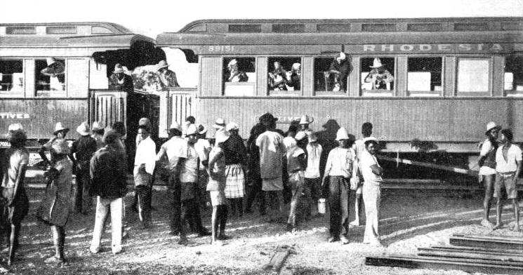THE ARRIVAL OF THE MAIL TRAIN at Saw Mills Station