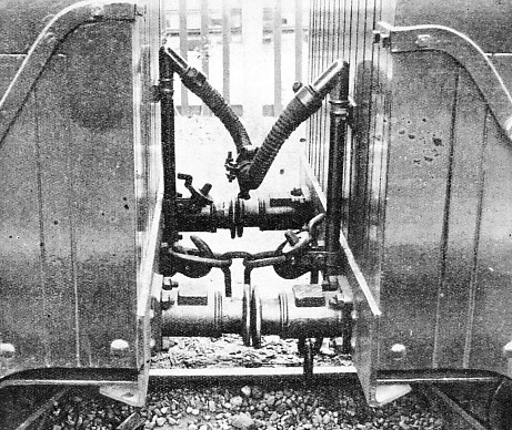 MINIATURE VACUUM BRAKES are fitted to the trains of the Romney, Hythe and Dymchurch Railway