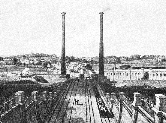 THE APPROACH TO EUSTON STATION IN 1837