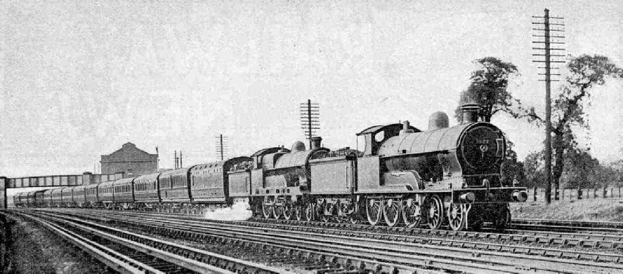 The up Irish Mail at Kenton, double-headed