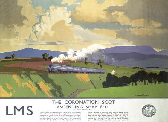One of Norman Wilkinson's travel posters produced in 1937 for the London, Midland & Scottish Railway