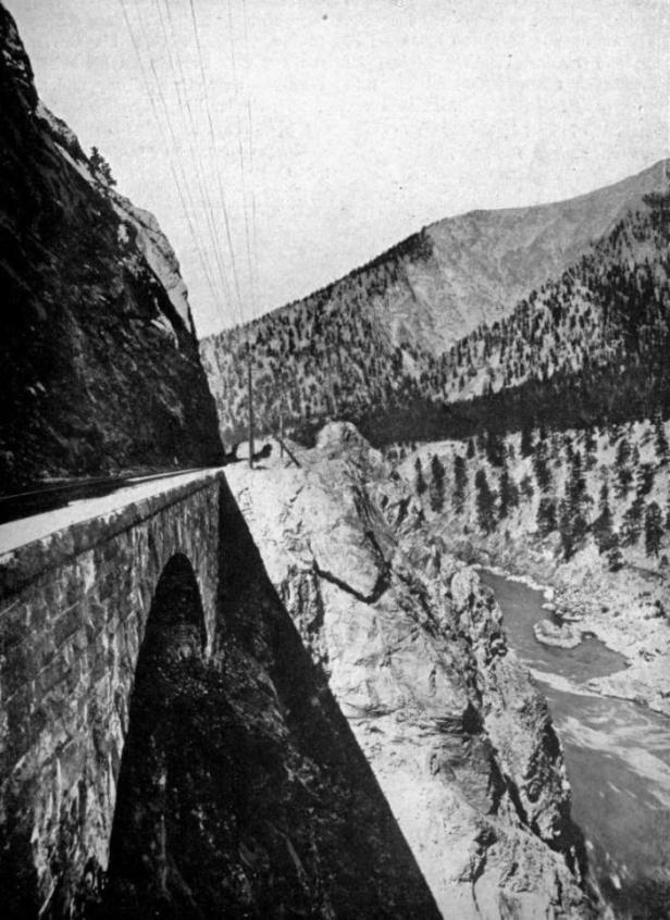 "THE ""JAWS OF DEATH"" BRIDGE IN THE THOMPSON RIVER CANYON"