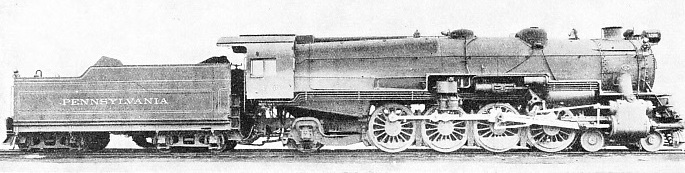 A MOUNTAIN TYPE of steam locomotive employed on the Pennsylvania Railroad