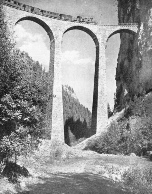 the Landwasser Viaduct on the line of the Rhaetian Railways