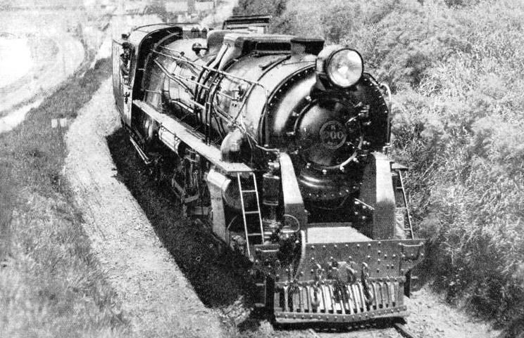 "A HUGE LOCOMOTIVE of the 4-8-4 ""K"" class, used in New Zealand"