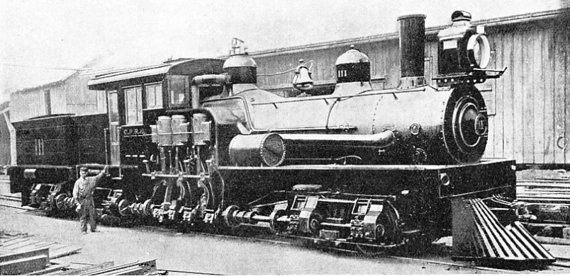 """SHAY"" GEARED LOCOMOTIVE, Canadian Pacific Railway"