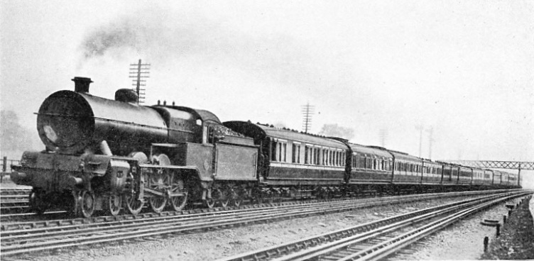 A Lancashire and Yorkshire Engine hauling a West Coast Express