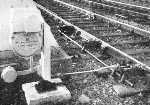 AN AUTOMATIC MACHINE which places a series of fog signals on the line